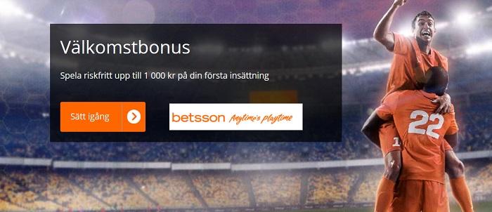 Betsson odds