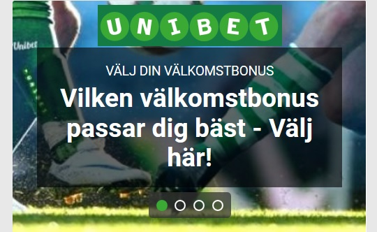 Odds hos Unibet